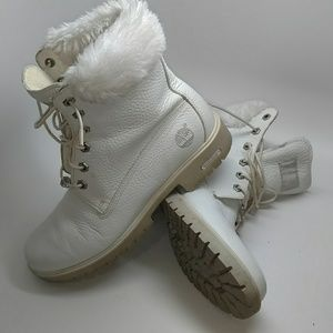 Shoes - White Timberlands